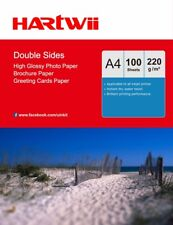 Hartwii 100 Sheets A4 220Gsm Double Sided High Glossy Photo Paper Inkjet Paper