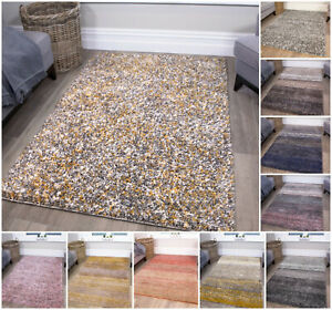 Modern Shaggy Rugs Soft Thick Non Shed Rug Small Large Runners Living Room Rugs