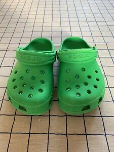 Kids Crocs Green Size 8