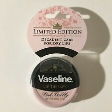 Vaseline Lip Therapy Pink Bubbly Limited Edition Decadent Care For Dry Lips NEW