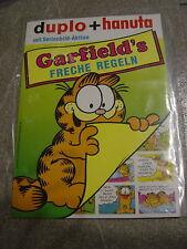 """Duplo/galleta publicidad display con todos los sammelbildern """"familia Garfield descaradas reglas"""" 1992"""