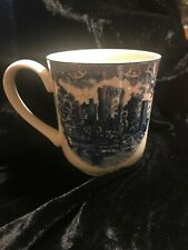 Johnson's Brothers England 1883 Ragland Castle in 1792 Blue White Coffee Mug Cup