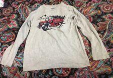 ~ Girls OshKosh Gray L/S Fire Truck T-Shirt ~ Size Large 10/12 ~