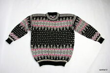 CHUNKY DALE OF NORWAY MEN'S NORDIC FAIR ISLE WOOL JUMPER SWEATER PULLOVER Size L