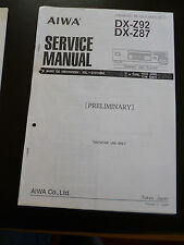 Service MANUAL AIWA dx-z92/dx-z87