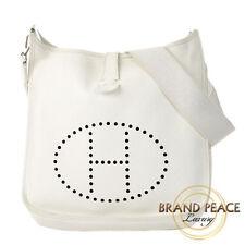Hermes Evelyn 2 GM shoulder bag Veau Epsom white J stamped Free Shipping