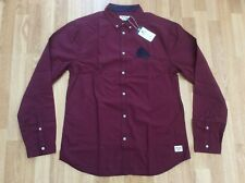 MENS JACK & JONES BUTTON DOWN COLLAR SLIM CHECK SHIRT DEAN RED SIZE XL