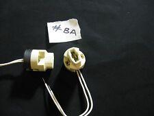 10 x g9 luce alogena in Ceramica Presa Lampadina Lampada titolare JOB LOT C/W Wire del cavo #ba