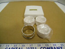 Set of 4 Silver Plated Round Napkin Ring Holders - NEW