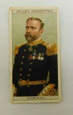 Cigarette Tobacco Card Wills Naval Dress & Badges 1909 # 4 Admiral - RN  /  RAN