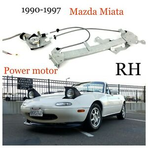 1990-1997 Mazda Miata Power Motor Window Regulator Upgraded Design RH New