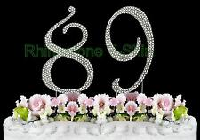 NEW Large Rhinestone  NUMBER (89) Cake Topper 89th Birthday Party Anniversary