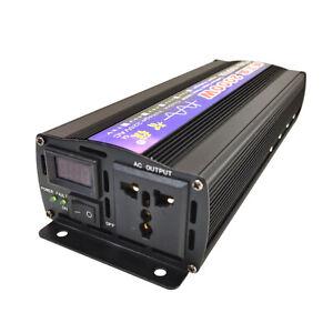 Pure Sine Wave Inverter 2000W (RMS 1000W) DC12V/24V/48V To AC 220V 50HZ Booster