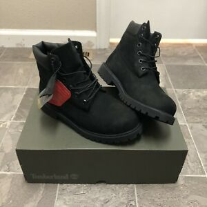 "Men's NEW Timberland 6"" Premium Waterproof Primaloft Lined Boots Sz 6 Black"