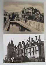 Frankreich Lot 2x Schloss Chateau ~1940/50 LOCHES Loire alte s/w Ansichtskarten