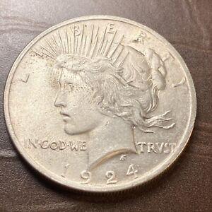 1924 $1 Peace Silver Dollar Collectible Coin