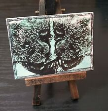 ACEO Mixed Media Paint Ink Blot Rorschach Mini Art Card ATC
