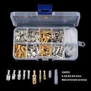 150Pcs Cable Lugs Set Car Electrical Wire Bullet Terminals Crimp Connectors