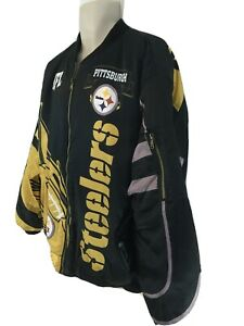 Pittsburg Steelers XXL Insulated Quilt Lined Zip Front Jacket