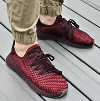 ADIDAS DEERUPT RUNNER - New Men's Lifestyle Sneakers Collegiate Burgundy Shoes