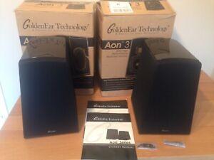 GoldenEar AON 3 Loudspeakers (Pair) Black.
