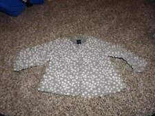 BABY GAP 12-18 GRAY WHITE POLKA DOT JACKET COAT