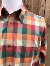 Orvis Men's 100% Cotton Multi Color Checks Shirt Size Large