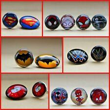 Marvel Super Hero Boys Rings Pin Badges Broaches Party Favours Batman Deadpool