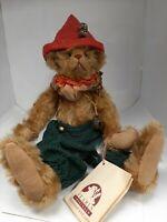 """Rare Vintage 10"""" OOAK Mohair Teddy Bear by Artist Nancy Crowe"""