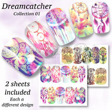 Dreamcatcher Nails Festival Wraps Water Nail Decals Stickers Dreamcatchers A1319