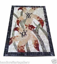 4'x2' Marble Dining Coffee Table Top Abalone Stone Mosaic Inlay Newyear Decor