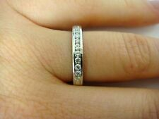 14K WHITE GOLD   LADIES DIAMOND WEDDING BAND, 3,1 GRAMS, 3 MM WIDE
