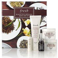 Fresh Black Tea 5-pc Skincare Set Age-Delay Cream Firming Serum Sugar Mask NEW