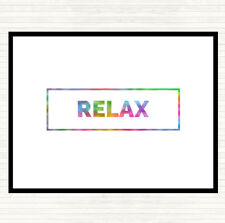 Relax Boxed Rainbow Quote Dinner Table Placemat