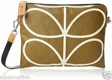 ORLA KIELY Giant Linear Stem Print Womens Travel Purse/Pouch Camel 16AELIN136 BN