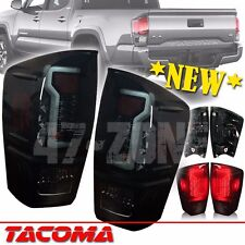 Smoked Lens Black Housing LED Tail Light Lamp Pair For 2016-2017 Toyota Tacoma