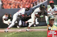 LOU BROCK AND RICKEY HENDERSON 1989 SPORTS ILLUSTRATED POSTER
