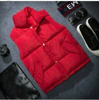 Men Quilted Gilet Waistcoat Padded Puffer Winter Coat Sleeveless Jacket Top Slim