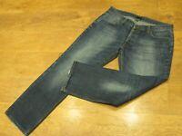 """FIRETRAP, W36"""", L31"""", Blue Denim Straight-leg Jeans, Rise 10"""", Hem 18"""" vgc"""