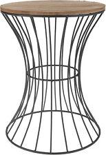 Beistelltisch Metall Holz industrial look 39,5x30 Tisch Couchtisch schwarz Deko