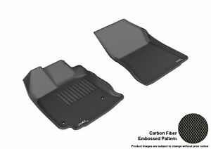 For 2013-2015 Toyota Venza R1 KAGU Carbon Pattern Black All Weather Floor Mat