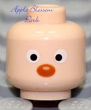 Neuf Lego Clair Flesh Minifigurine Tête Toy Story Canard Camion Conducteur