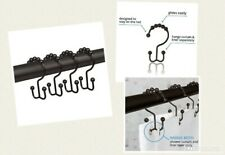 Premium Metal Double Roller Glide Shower Curtain Ring/Hooks, Oil Rubbed Bronze