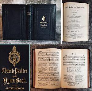 Antique 1864 Church Psalter & Hymn Music Book Oxford Edition Bible Companion