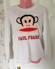 Paul Frank Primark Soft Fluffy Pyjama Lounge Top White Monkey XS 6 8