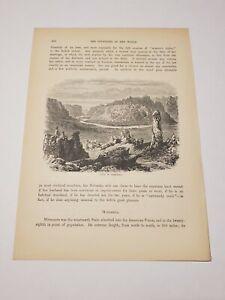 View in Nebraska c. 1890 Engraving
