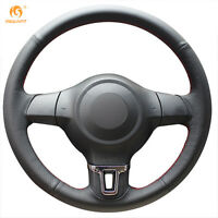 Leather Steering Wheel Cover for VW Golf 6 Mk6 VW Polo MK5 2010-13 #GB05