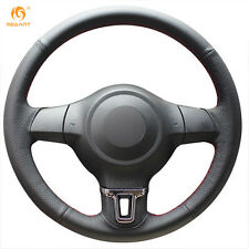 Authentic Leather Steering Wheel Cover for VW Golf 6 Mk6 VW Polo MK5 2010-13