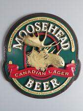(VTG) Moosehead Beer 3-d giant back bar sign cabin northwoods man cave rare mib
