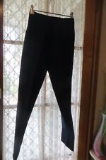 VINTAGE  70'S ~ Black Crimplene  ~ PANTS * Size 8/10 *